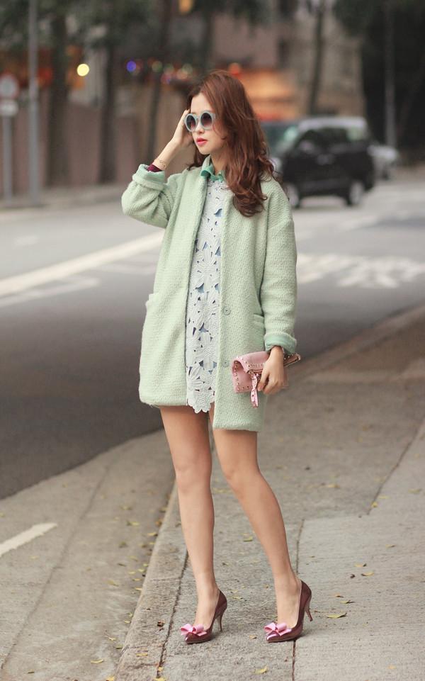 mellow mayo sunglasses dress jacket bag shoes