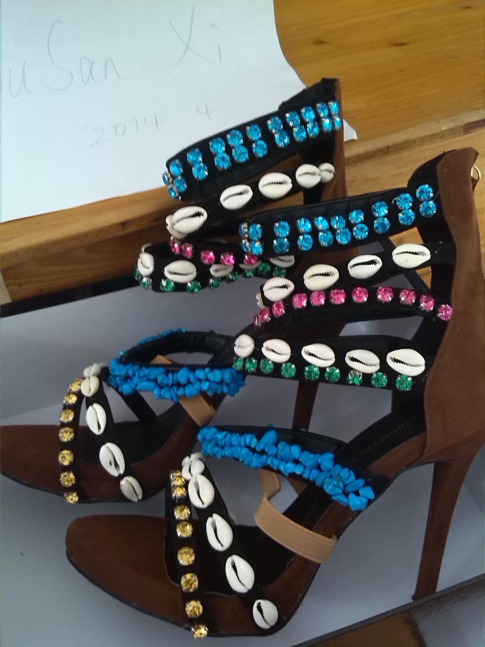 бренда качества дучший кристаллический шарик летом сандалии gz джузеппе натуральной кожи высокий каблук женская zanotty свадьба ботинки ботинки, принадлежащий категории Сандалии и относящийся к Обувь на сайте AliExpress.com