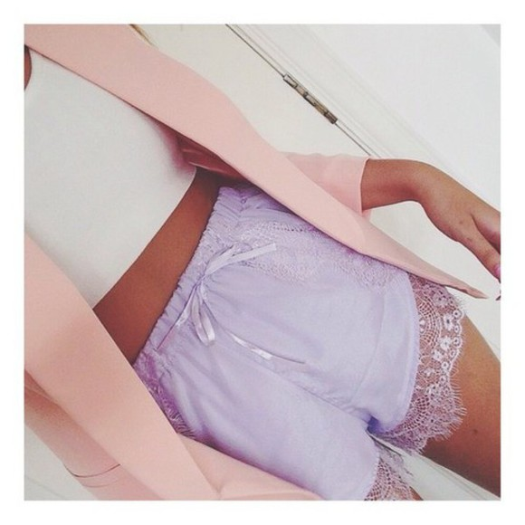 pastel purple shorts pastel short style lilac lavender