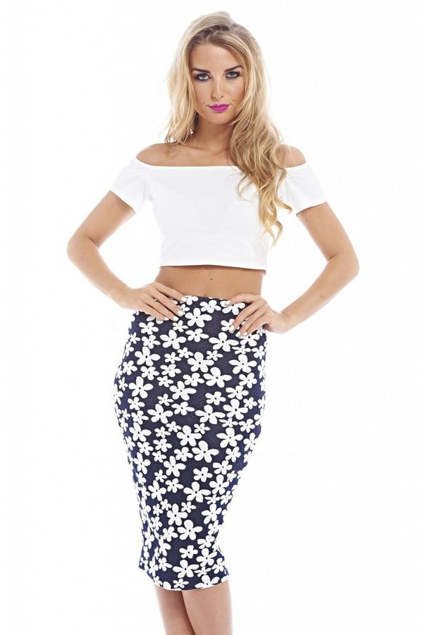 skirt navy midi daisy skirt navy and white midi skirt www.ustrendy.com