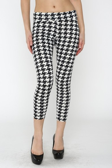 legging leggings houndstooth