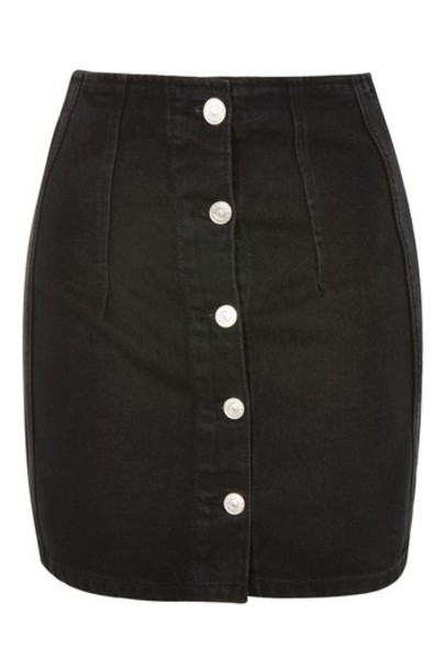 Topshop skirt mini skirt denim mini black