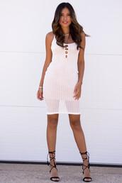 dress,boho dress,sexy dress,white,white dress,tan,crochet,crochet dress,boho,boho chic,coachella,date outfit,date dress,trendy,ootd,bodycon dress,bodycon,summer,summer dress,summer outfits