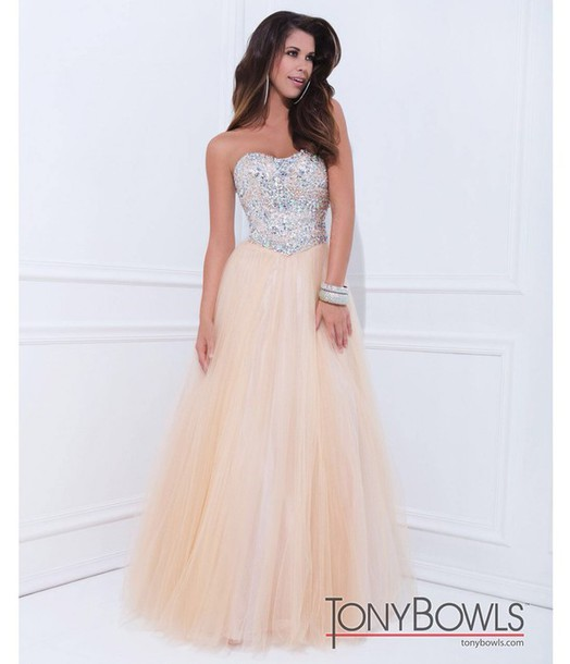 dress prom dress pretty sparkle ball gown dress