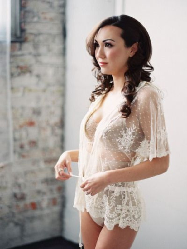 Top Lingerie Lace See Through Wheretoget