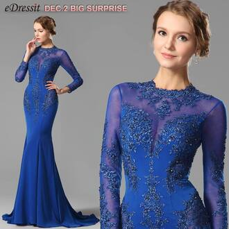 dress edressit evening dress fashion party blue