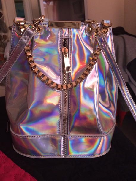 bag gold holographic bag holographic bag
