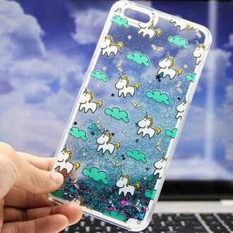 phone cover unicorn iphone case cool teenagers glitter transparent cute boogzel