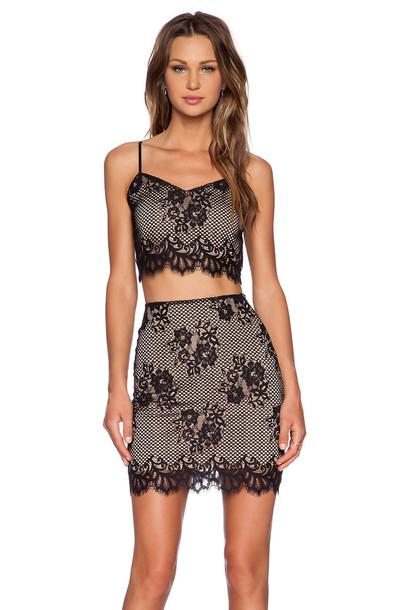 For Love & Lemons skirt skirt set black