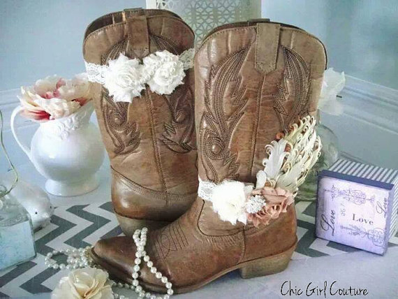 Shabby Chic Boot Band Boot AccessoriesCowgirl by ChicGirlCouture