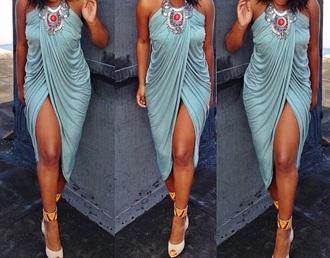 dress turquoise elegant dress