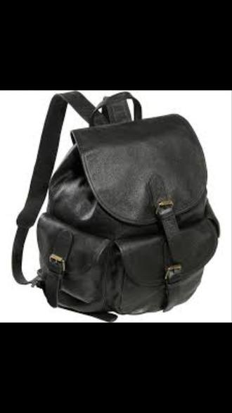 bag leather backpack black mini