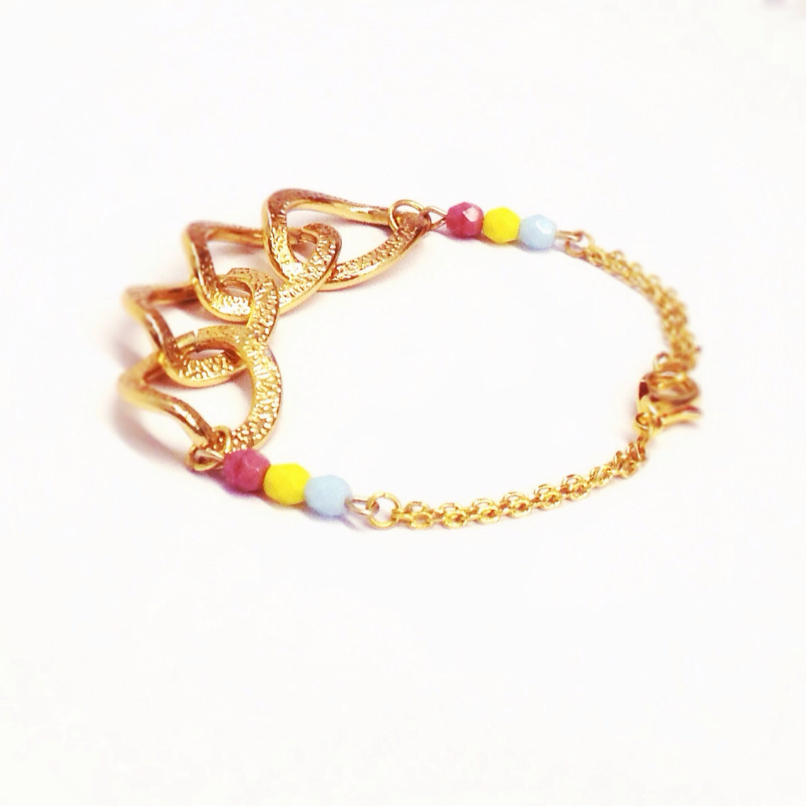 Color bracelet, dainty jewelry
