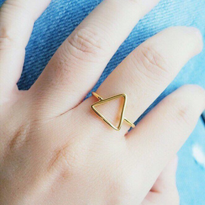 Triangle Ring - Band Ring - Tiny Ring - Delicate Ring - Silver Ring - Birthday Gifts