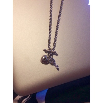 jewels jewlery silver necklace locket heart chain silver jewelry