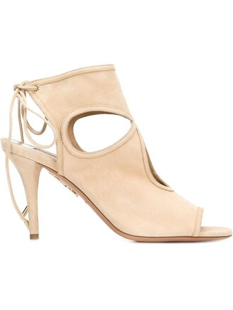 sexy women sandals nude suede shoes