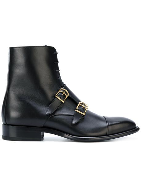 Jil Sander women leather black shoes