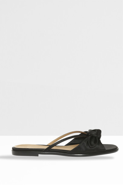 The Row Women`s April Bow Sandals in black