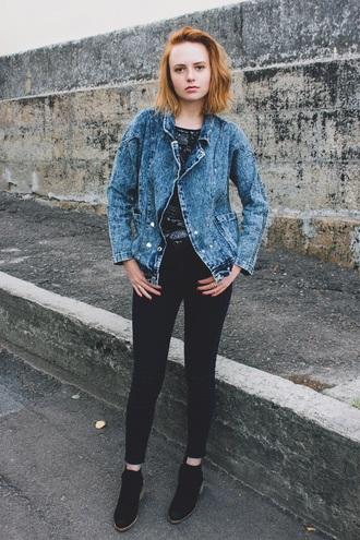 kristina magdalina blogger jeans jacket shoes