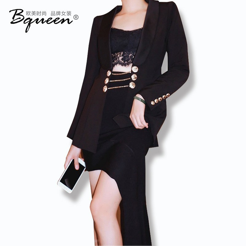 2017 new women's fashion for fall/winter small slim suits a solid color short jackets temperament - Bonny YZOZO Boutique Store
