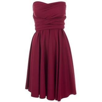 dress short strapless spandex