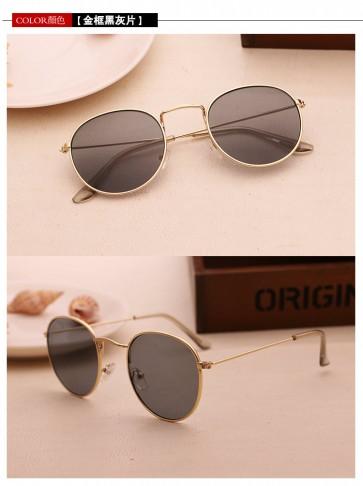 Tinted Lens Vintage Retro Hippie Lennon Round Sunglasses