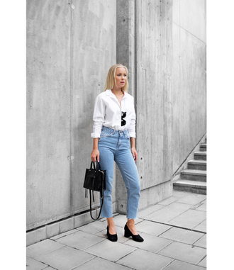 victoria tornegren blogger jeans bag shoes shirt
