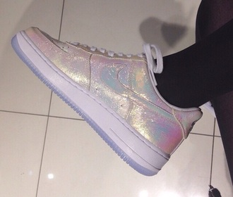 shoes glitter glitsy nike sneakers nike air force sneakers cute sneakers cute shoes nike shoes shiny grunge grunge shoes hipster hipster shoes aesthetic nike air force 1 shiny shoes nike running shoes metallic shoes holographic shoes holographic glitter shoes nike air nike tumblr white