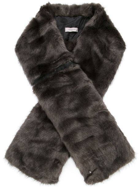 Urbancode oversized fur faux fur women scarf fur scarf grey