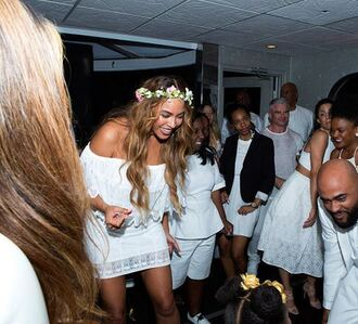 dress white white dress off the shoulder lace lace dress beyonce