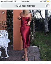 dress,red cherry colour