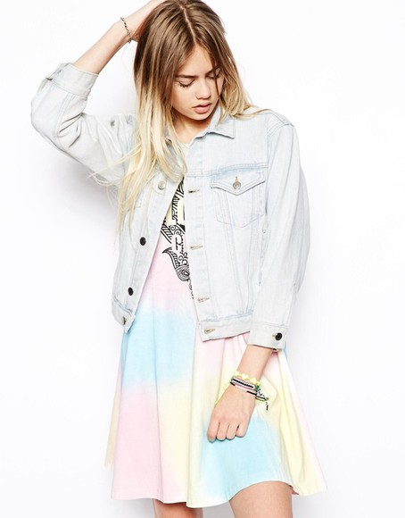 dress asos jacket tie dye