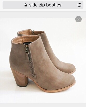 shoes zip grey booties boots booties shoes booties