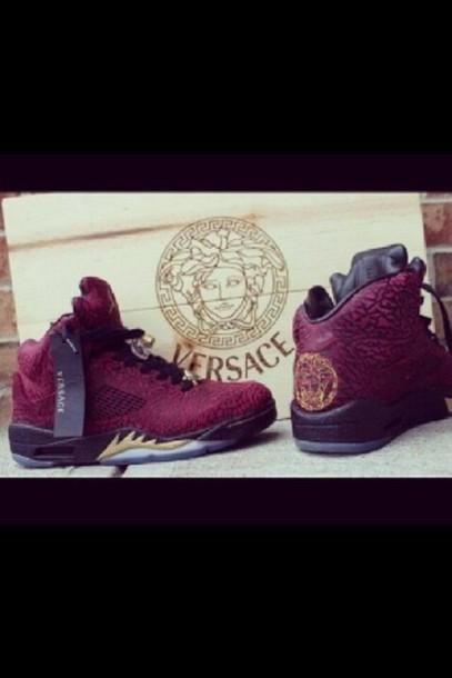 Versace Jordans Tumblr 9271 · Red Versace Jordans