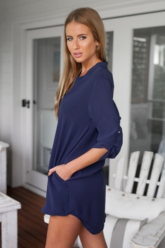 dress blue blue dress