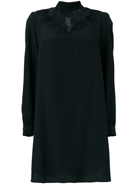 Paul & Joe dress shift dress women lace black silk