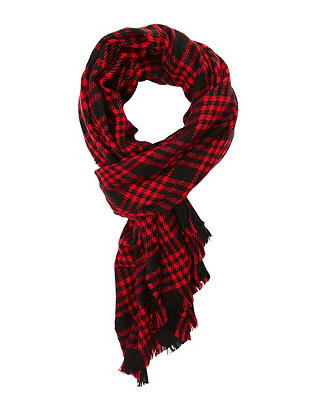 Oversized plaid wrap scarf: charlotte russe