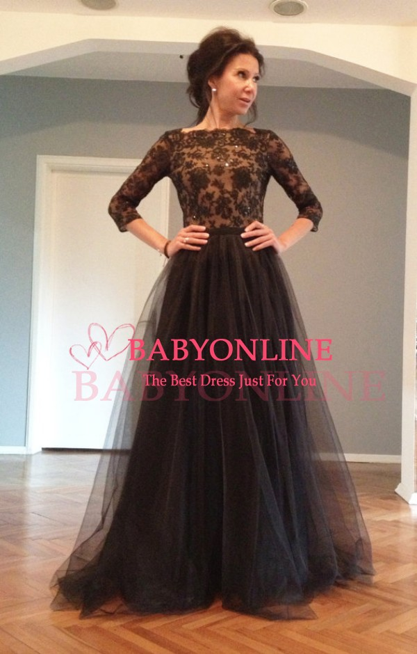 Aliexpress.com : buy gorgeous new black sequin lace bodice half sleeve long elegant backless prom dresses 2015 tulle graduation dresses plus size from reliable prom dresses suppliers on suzhou babyonline dress store