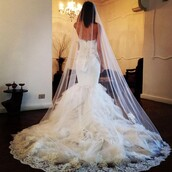 dress,wedding dress,gorgeous,lace bridal gowns,romantic,white
