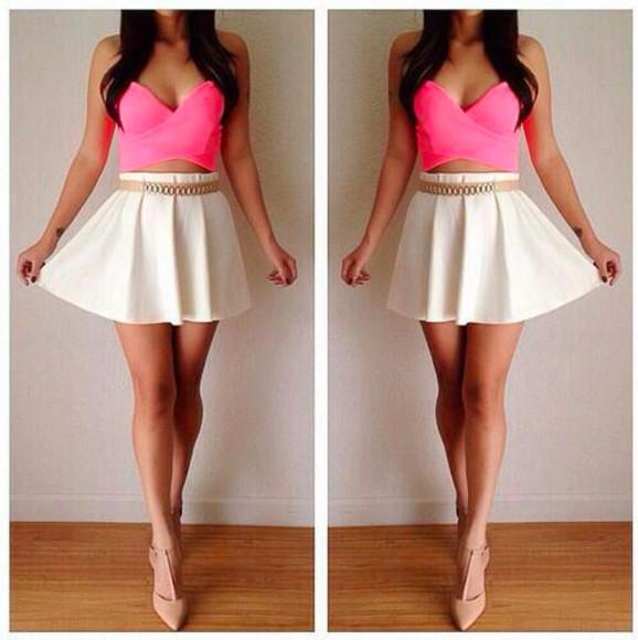 bright high waisted high heels Belt