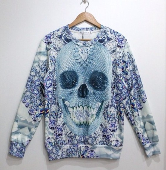 skull sweater dimond