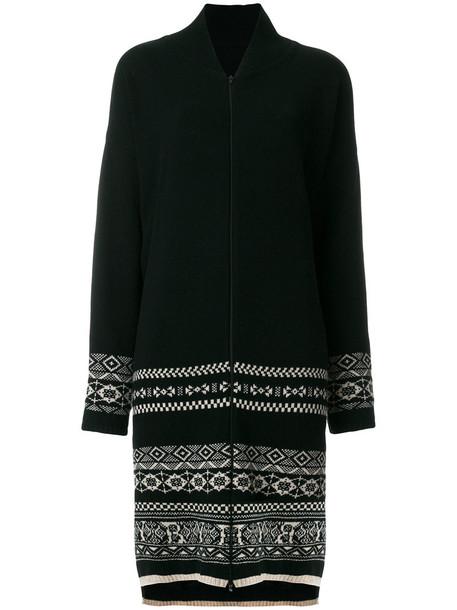 YOHJI YAMAMOTO cardigan long cardigan cardigan long women jacquard black wool pattern sweater