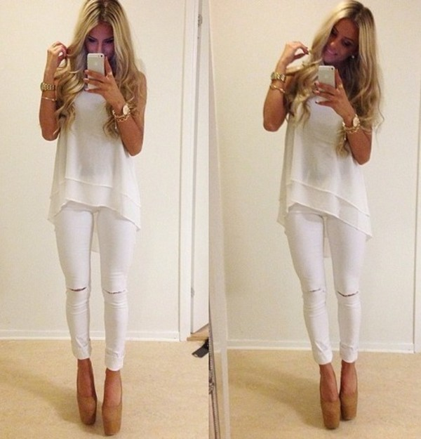 blouse spring summer jeans