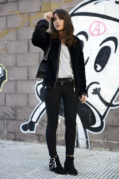 lovely pepa jacket jeans shoes t-shirt bag belt