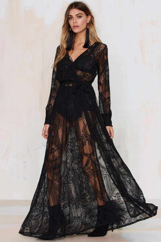 Gal One and Only Lace Maxi Dress - Black
