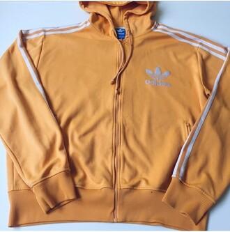 jacket adidas hoodie coat adidas tracksuit tracksuit orange yellow bright neon neon adidas tracksuit