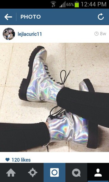 shoes DrMartens mirrored