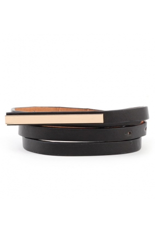 Skinny Mini Metal Mirror Belt | Ooh La Luxe!  - Juniors & Contemporary High Street Fashion