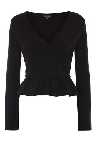 top wrap top black