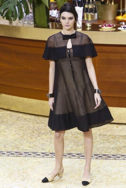 dress sheer fashion week 2015 see through dress kendall jenner